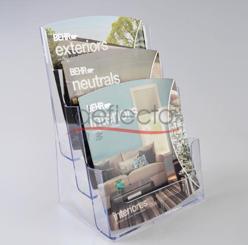 迪多-亚克力多层杂志展示架