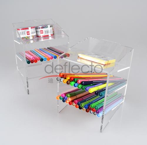迪多-有机玻璃文具收纳架