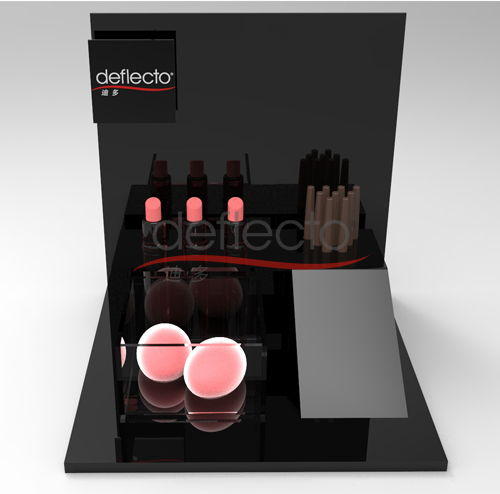 迪多-黑色亚克力化妆品展示架