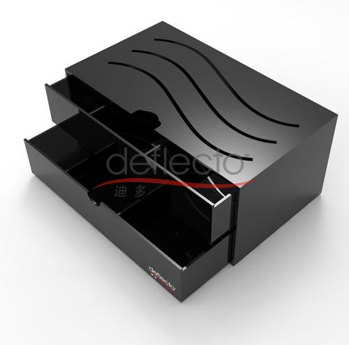 迪多-黑色化妆品收纳盒